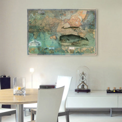 The World Map 1870  Canvas Art