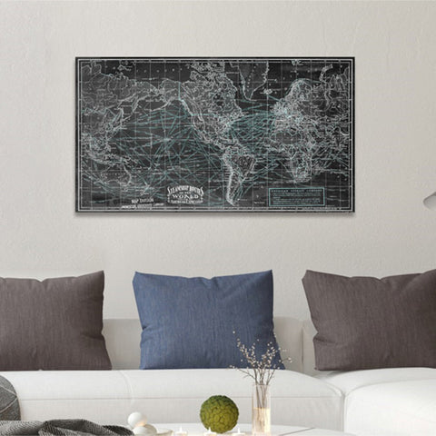 Steamship Routes of the World Canvas Art