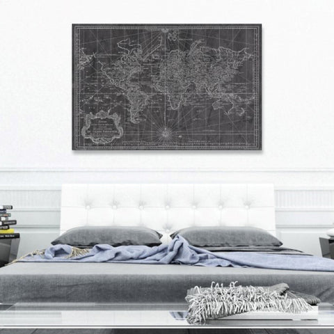 World Map 1778 Canvas Art