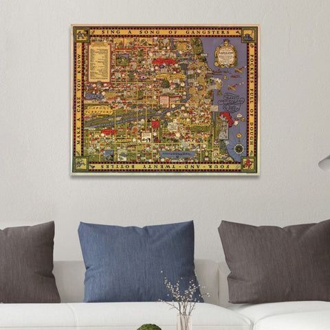 Chicagos Gangland 1931 Canvas Art