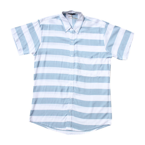 Stripes S/S Shirt in Blue