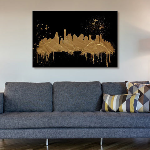 Boston Skyline Canvas Art