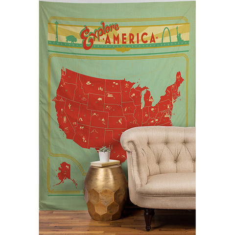 Explore America by Anderson Design Group Tapestry