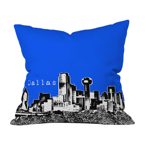 Dallas Royal Throw Pillow by Bird Ave