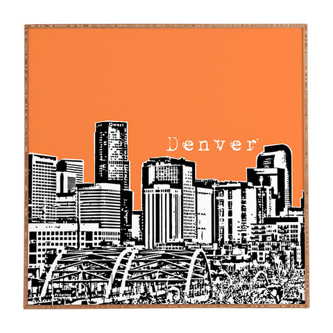 Denver Orange Framed Wall Art by Bird Ave