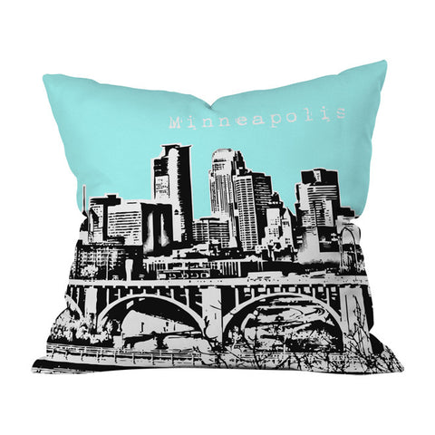 Minneapolis Sky Throw Pillow by Bird Ave