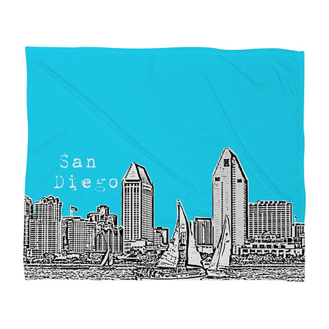 San Diego Sky Fleece Throw Blanket by Bird Ave