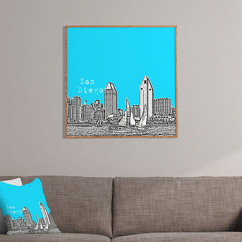 San Diego Sky Framed Wall Art by Bird Ave