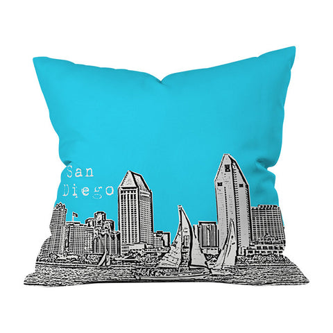 San Diego Sky Throw Pillow by Bird Ave