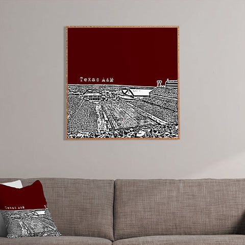 Texas A And M Maroon Framed Wall Art by Bird Ave