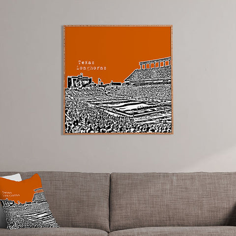 Texas Longhorns Orange Framed Wall Art by Bird Ave