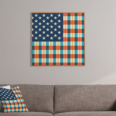 Plaid Flag Framed Wall Art by Nick Nelson