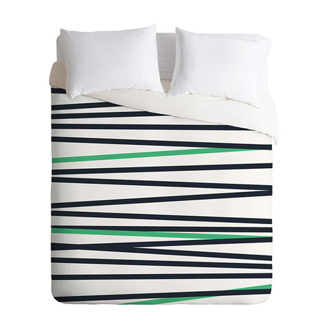 Crew Stripe Cool by Khristian Howell Duvet Cover