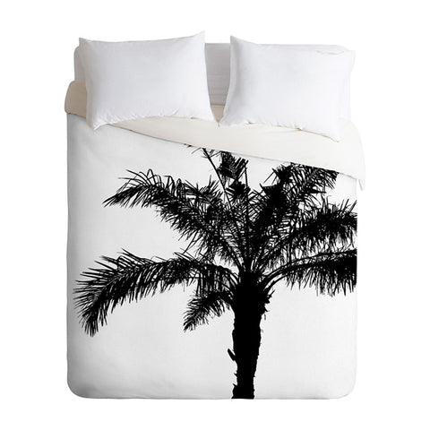 B and W Square by Deb Haugen Duvet Cover