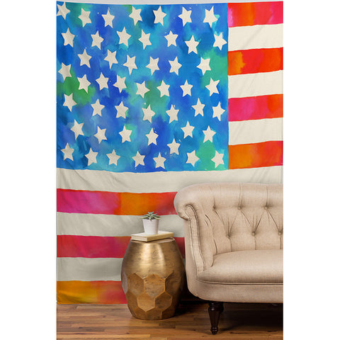 Old Glory Patriot by Betsy Olmsted Tapestry