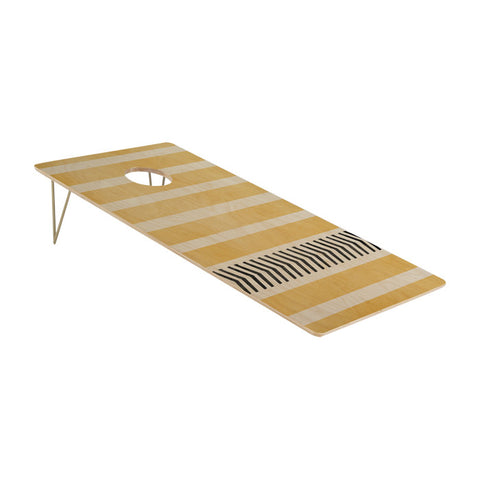 Yellow Stripes and Arrows Cornhole Set by Allyson Johnson