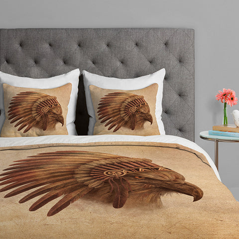 Eagle Chief by Terry Fan Duvet Cover