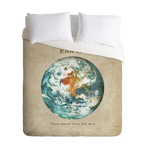 Planet Earth by Terry Fan Duvet Cover