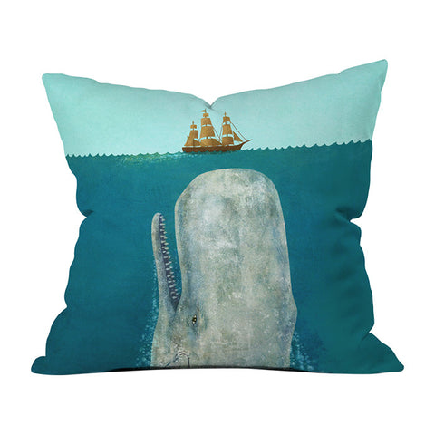 The Whale by Terry Fan Throw Pillow