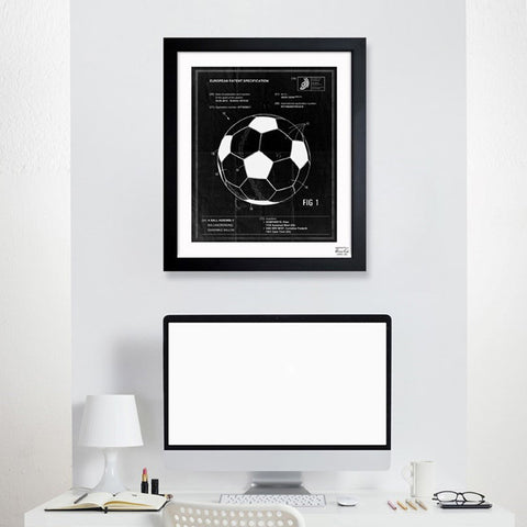 Soccer Ball 2012 Framed Art
