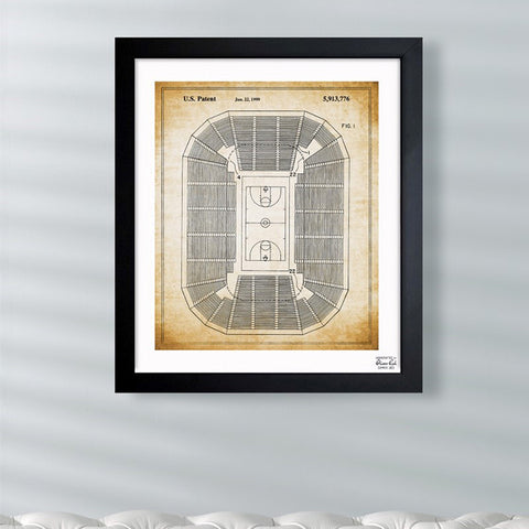 Basketball Court 1999 Framed Art