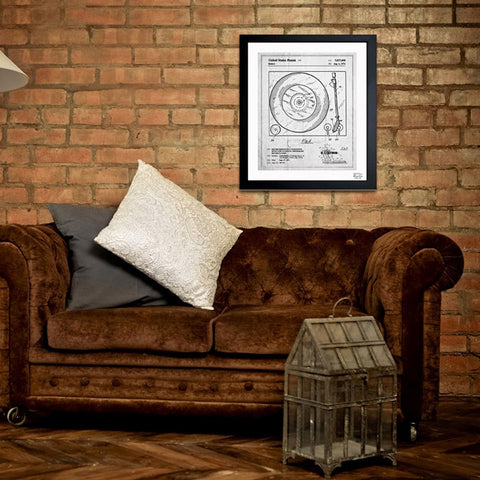 Record Player 1974 Framed Art