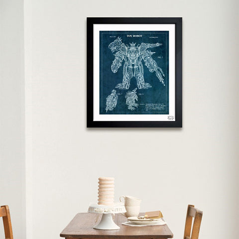 Transforming Dinosaur Robot 2014 Framed Art