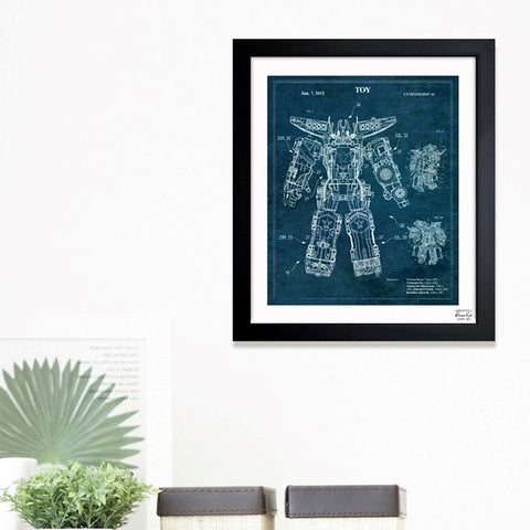 Transforming Robot 2012 Framed Art
