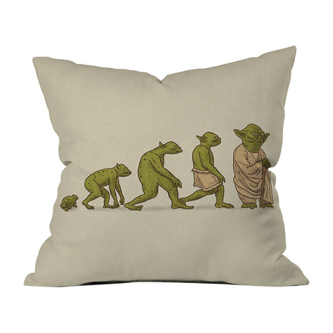 Yodalution by Terry Fan Throw Pillow