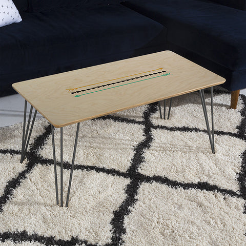 Minimal Arrows Coffee Table by Allyson Johnson