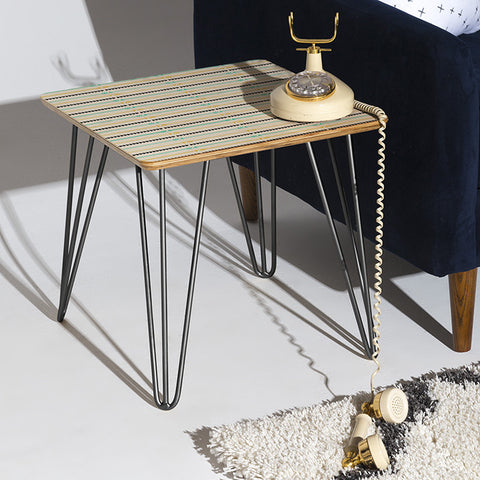 Arrow Pattern Side Table by Allyson Johnson