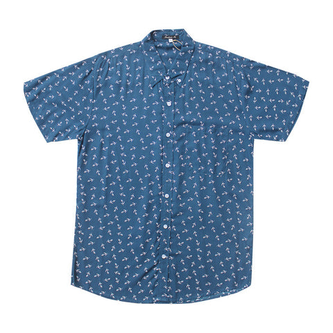 Anchor S/S Shirt in Navy