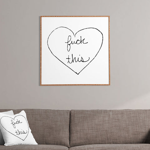 F This Framed Wall Art by Leeana Benson