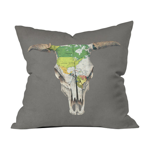 Go West by Terry Fan Throw Pillow