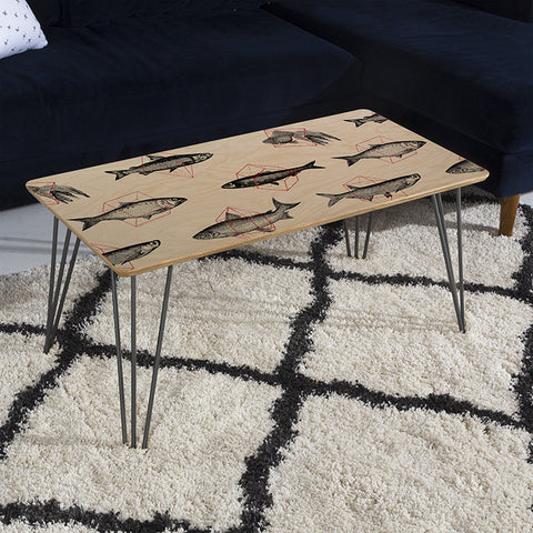 Fishes in Geometrics Coffee Table by Florent Bodart