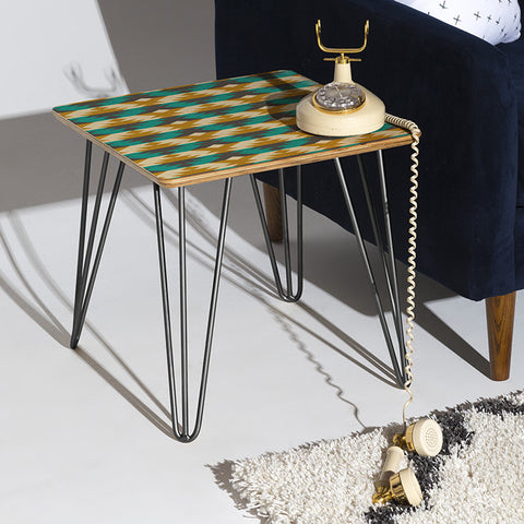 Native Diamond Side Table by Holli Zollinger