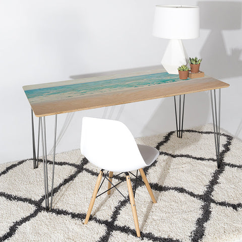 Pale Blue Sea Desk by Bree Madden