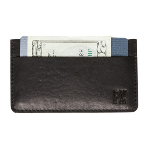 Jeffery Leather Card Holder in Black