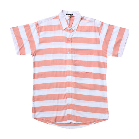 Stripes S/S Shirt in Peach