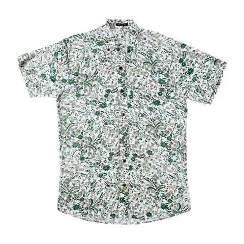 Flowers S/S Shirt in Green