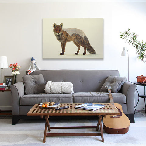 Mountain Fox by Andreas Lie Canvas Print