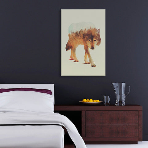 Wolf in the Woods II by Andreas Lie Canvas Print