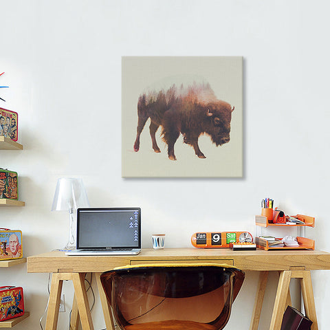 Bison by Andreas Lie Canvas Print