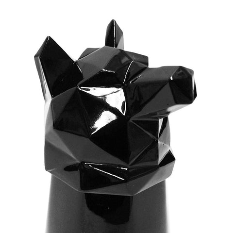 Wolf Shot Glass in Black