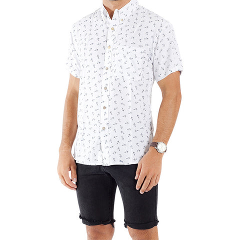 Anchor S/S Shirt in White