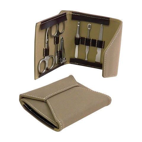 6 Piece Manicure Set in Ultra Suede Case