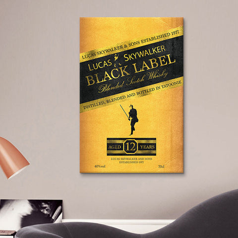 Lucas Skywalker Black Label Canvas Print