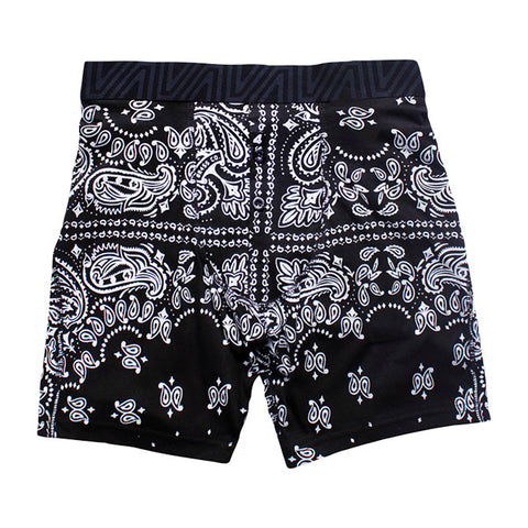 Fitted Boxers in Bandana Black