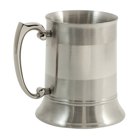 Stainless Steel Chrome and Satinized Tankard