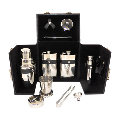 10 Piece Flask / Shaker Set